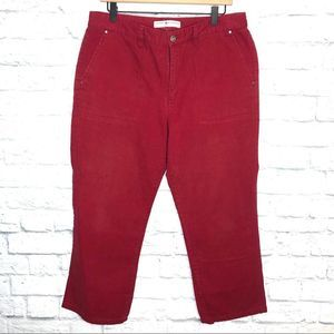 Tommy Hilfiger Red Cropped Jeans